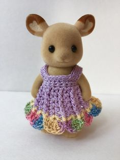 Hey, I found this really awesome Etsy listing at https://www.etsy.com/listing/245713326/purple-party-dress-for-momma-critter
