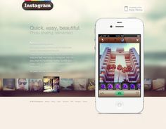 Instagram concept website (1/2)
