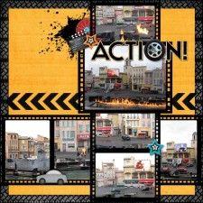 Lights, Motors, Action! (left side) - MouseScrappers - Disney Scrapbooking Gallery