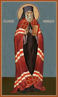 St Nektarios of Pentapolis, Wonderworker of Aegina – Damascene Gallery Byzantine Icons, Orthodox Icons, Religious Art, Christianity, Catholic, Saints, Princess Zelda, Cathedrals, Gallery