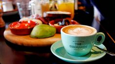 Grounds of Alexandria - Set amongst an lush industrial backdrop, this coffee shop and eatery surely won't disappoint the taste buds. Taste Buds, Alexandria, Coffee Shop, Lush, Latte, Sydney, Backdrops, Industrial, Gardens