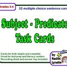 Use these 32 cards to help your student gain fluency identifying both the simple and complete subject and predicate. The pages are all formatted th...