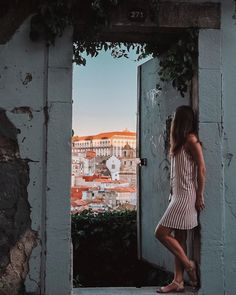 "K i r s t y ✨'s Instagram photo: ""Open the door, it might lead you to somewhere you didn't expect 🖤 . . I stumbled across this viewpoint near my apartment as the miradouro I…"" White Dress, Instagram, Dresses, Fashion, Porto, White Dress Outfit, Moda, Vestidos, Fashion Styles"