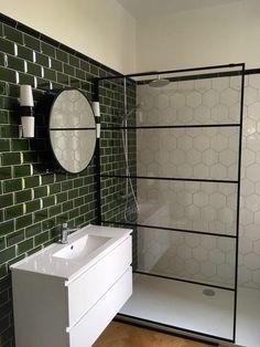 Modern Bathroom Decor, Bathroom Interior Design, Bathroom Green, I Love House, Bathroom Color Schemes, Bathroom Goals, Cozy House, Future, Bathroom Layout