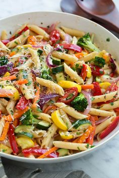 Pasta Primavera recipe from Cooking Classy is part of the Cool Mom Picks We. This Pasta Primavera recipe from Cooking Classy is part of the Cool Mom Picks We.,This Pasta Primavera recipe from Cooking Classy is part of the Cool Mom Picks We. Wraps Vegan, Best Vegetable Recipes, Vegetable Pasta Recipes, Summer Pasta Recipes, Summer Vegetarian Recipes, Red Lentil Pasta Recipes, Easy Healthy Pasta Recipes, Summer Pasta Dishes, Roasted Vegetable Pasta