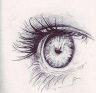 """Life Is a Work of Art"": Photo eye sketch Realistic Eye Drawing, Drawing Eyes, Painting & Drawing, Drawing Hair, Cool Drawings, Drawing Sketches, Sketches Of Eyes, Eye Sketch, Eye Art"