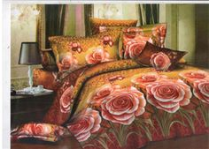 Dekor World Rose Printed #Bedsheet W/Pillow Cover.