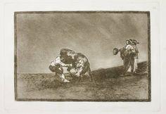 Goya en El Prado: El mismo vuelca un toro en la plaza de Madrid