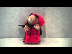 Hamster in Red Dress Dancing Hamster Plush By Gemmy