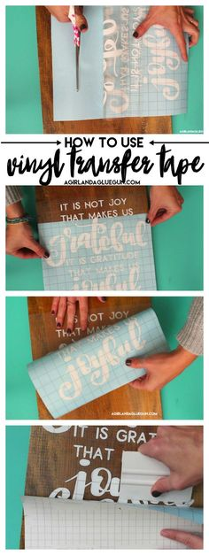 How to use transfer tape with vinyl
