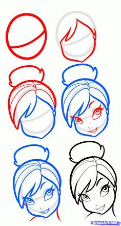 How to draw Tinker Belle