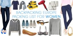 Travel Europe Packing List for Women — Packing Guide for Backpacking Europe I cannot wait for our trip to Portugal!  It'll be Aaron's first time back since 2005!