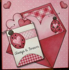 Cute homemade card for Valentines Day!