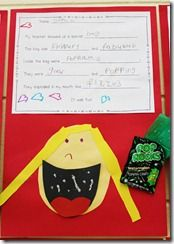 Cute descriptive writing activity using pop rocks from Abby at the Inspired Apple! Love her ideas!