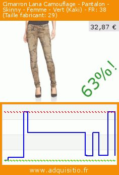 Cimarron Lana Camouflage - Pantalon - Skinny - Femme - Vert (Kaki) - FR: 38 (Taille fabricant: 29) (Vêtements). Réduction de 63%! Prix actuel 32,87 €, l'ancien prix était de 89,99 €. https://www.adquisitio.fr/cimarron/cassis-jeans-fille-vert-0