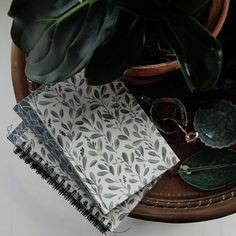 "Notebook cloth A5 ""Olivia"" green"