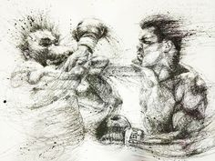 "Oeuvre by Vince Low - Sport Boxe ""Mohamed Ali"""