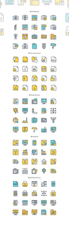 260 Color Line Icon x2 by Just Icon on @creativemarket