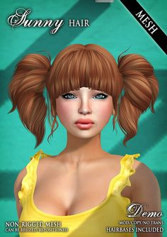 Sunny Mesh Hair @ FaMESHed by Wasabi Pills, via Flickr