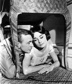Gary Cooper, Audrey Hepburn— Love in the Afternoon, 1957 Gary Cooper, Marie Curie, Turner Classic Movies, Classic Films, Cary Grant, John Wayne, James Dean, Steve Jobs, Classic Hollywood