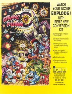 That's an ad for an arcade machine that plays Bomberman // Atomic Punk