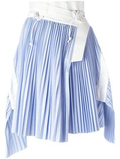 SACAI Wrap Micro Pleat Skirt. #sacai #cloth #skirt