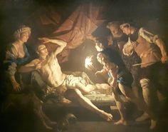 Mathias Stomer: Sansone catturato dai filistei. Torino, Galleria Sabauda.  1640