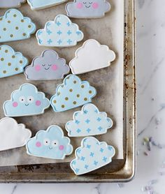 Our cookie clouds by Lindsey Bakes! Find the cutter here: http://shop.herriottgrace.com/product/cloud-cookie-cutter