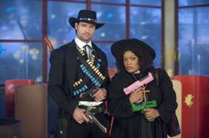 "Josh Holloway as ""Black Rider"" and Yvette Nicole Brown as Shirley on Community f..."