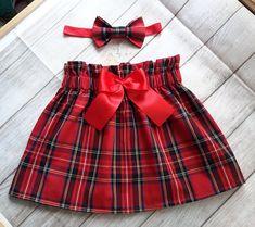 Items similar to Red tartan toddler skirt and headband set, Christmas outfit, baby girls Christmas outfit , tartan skirt, lined toddler skirt on Etsy Red Tartan Kleinkind Rock und Stirnband Set Weihnachts-Outfit Toddler Skirt, Toddler Outfits, Kids Outfits, Baby Skirt, Rock Outfits, Couple Outfits, Party Outfits, Edgy Outfits, Girls Christmas Outfits