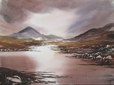 Watercolour painting of Rannoch Moor - YouTube