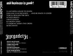 Megadeth - Killing Is My Business... And Business Is Good! (CD, Album) at Discogs