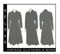 1940s Vintage Dress Suit Gabardine Jacket Full Gored Skirt Moordale | eBay