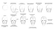 Somewhat Masculine Male Face Tutorial -Front View- by ConkerBirdy on deviantART