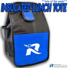 #RohamInt #ToteoftheWeek– Insulated Lunch Tote! Imagine your company branding on The Insulated Lunch Tote. This versatile insulated bag is great at keeping a lunch cool while keeping your business hot with the visibility of your branding on this bag.