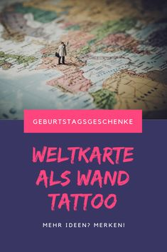 Idee: Weltkarte als Wandtattoo Movie Posters, World Maps, Cards, Ideas, Film Poster, Popcorn Posters, Film Posters, Billboard
