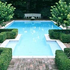 Nicely shaped pool