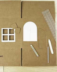 How to Make a Cardboard Cat Playhouse Cat Playhouse, Cardboard Playhouse, Diy Cardboard, Homemade Cat Toys, Diy Cat Toys, Dog Houses, Play Houses, Martha Stewart Pets, Cardboard Cat House