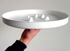 Drink tray with finger holes for you to grip.