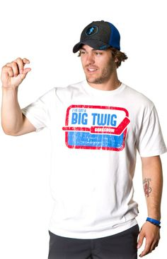 """BIG TWIG - There can't be a more awkward feeling then having to explain to your billets that the reason the boys refer to you as """"Big Twig"""" is because you are a goalie.yaaa right. Gongshow Hockey, Big, Awkward, Mens Tops, Christmas, Gifts, Xmas, Presents, Navidad"""