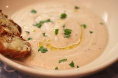 Roasted Cauliflower Fennel Soup from Marcia Selden Catering.