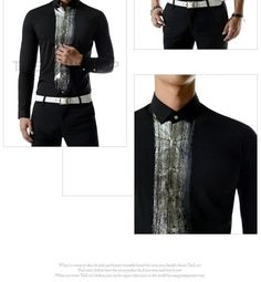Contrast-Trim Shirt - TheLees   YESSTYLE