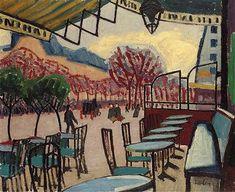 La terrasse de café by Auguste Herbin