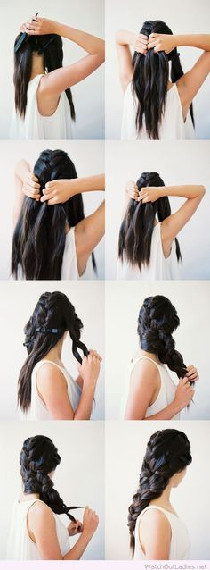 Chic interwoven braid tutorial
