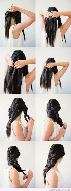 Chic interwoven braid tutorial