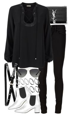 """Untitled #7423"" by nikka-phillips ❤ liked on Polyvore featuring Yves Saint Laurent, rag & bone/JEAN, Emilio Pucci, Banana Republic, ASOS, Topshop and Michael Kors"