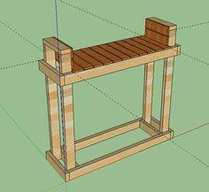 Built a firewood rack for 1/2 rick w/ Photo - The BBQ BRETHREN FORUMS.