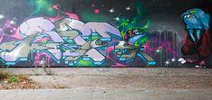 Graffiti Stephensonviaduct (NL) October 2012 art kunst streetart Leeuwarden, Friesland, Netherlands Photo by: Jascha Hoste