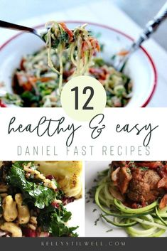 The Daniel Fast is a plant based food plan based on the Book of Daniel, but these recipes are so healthy any time! Low Sugar Recipes, Easy Dinner Recipes, Healthy Dinner Recipes, Vegetarian Recipes, Sugar Foods, Vegan Meals, Daniel Fast Dinner Recipe, Daniel Fast Recipes, Fast Dinners