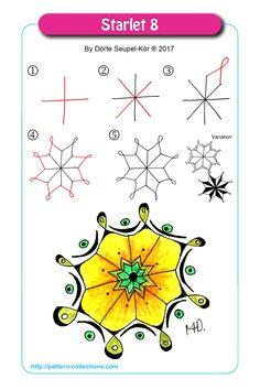 Starlet 8 by Dörte Seupel-Kör - zentangle